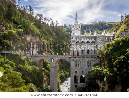 Las Lajas Sanctuary - Ipiales, Colombia Stock photo © julianpetersphotos