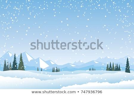 narciarz · narty · zimą · góry · niebo · sportu - zdjęcia stock © robuart