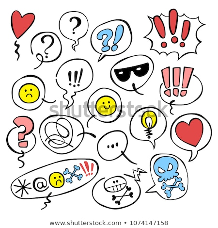 Smiley face with question and exclamation mark Stock photo © adrian_n