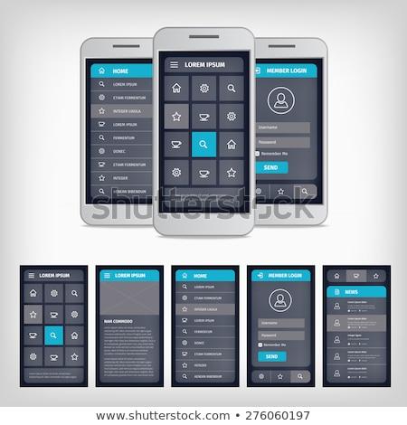 3D estilo login usuário interface projeto Foto stock © SArts