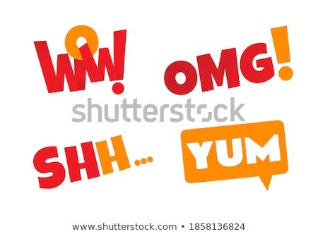 shh comic word Stock photo © studiostoks