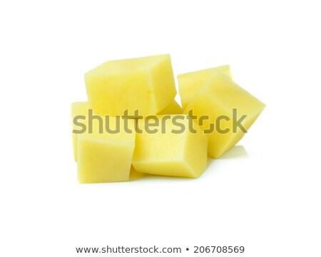 Сток-фото: картофеля · сырой · белый · чистой · растительное · свежие