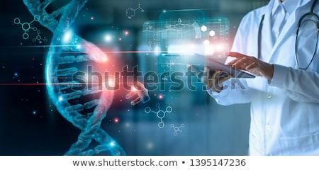 Tudomány gyógyszer technológia fogalmak DNS sötét Stock fotó © adam121