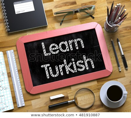 Klein schoolbord leren turks 3d illustration top Stockfoto © tashatuvango