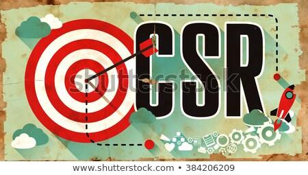 CSR on Grunge Poster in Flat Design. Stock photo © tashatuvango