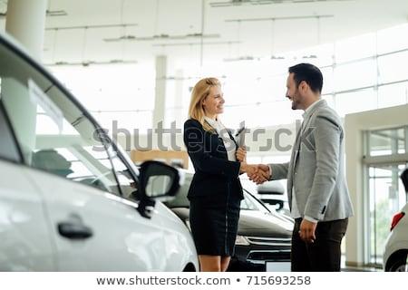 セールスマン 女性 顧客 車 ショールーム ストックフォト © wavebreak_media