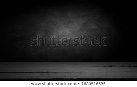 Wooden table on a concrete background Stock photo © artjazz