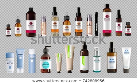 kozmetikai · üvegek · szett · vektor · üres · műanyag - stock fotó © frimufilms