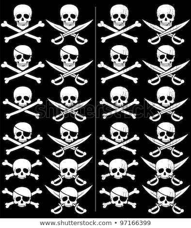 Piratas bandeiras conjunto transparente simples ilustração Foto stock © romvo