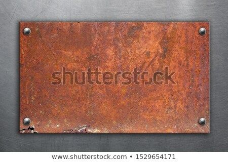 Rozsdás felirat tábla copy space ipari jegyzet Stock fotó © stevanovicigor