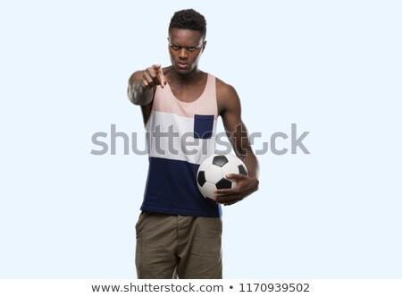 Sérieux afro sport homme regarder Photo stock © deandrobot