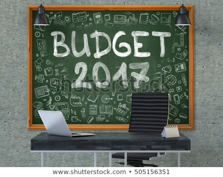 Chalkboard on the Office Wall with Budget 2017 Concept. 3D. Stock photo © tashatuvango