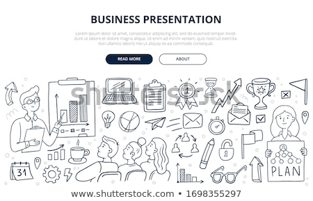 saas concept with doodle design icons stock photo © tashatuvango