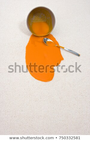 spilt bowl of soup Stock photo © IS2