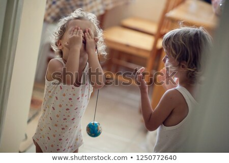 Young Girl Hoiding Small Globe Stock photo © monkey_business