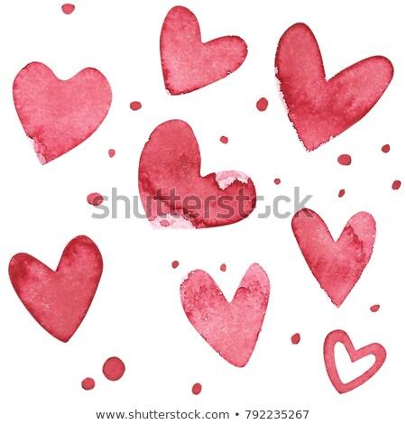 Stok fotoğraf: Sevmek · kalp · kırmızı · imzalamak