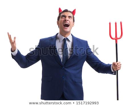 Mérges üzletember agresszív főnök gonosz menedzser Stock fotó © popaukropa