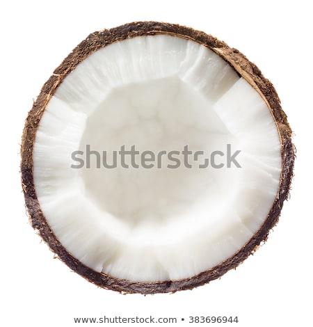 сломанной кокосового изолированный белый кокосовое молоко продовольствие Сток-фото © jordanrusev
