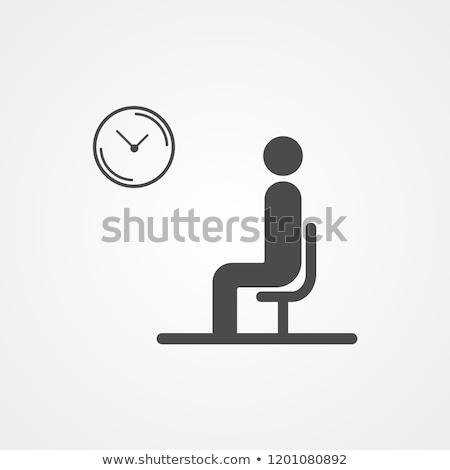 Foto stock: Mujer · sesión · espera · oficina · tecnología · diversión