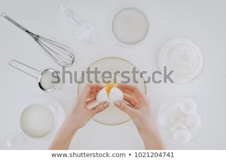tiro · pessoa · ovo · cozinhar · panquecas - foto stock © LightFieldStudios