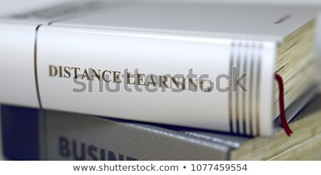 Distance apprentissage affaires livre titre 3D Photo stock © tashatuvango