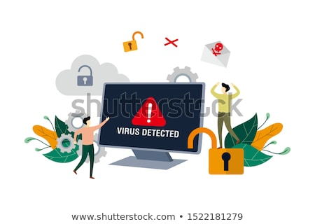 error virus detected background stock photo © solarseven