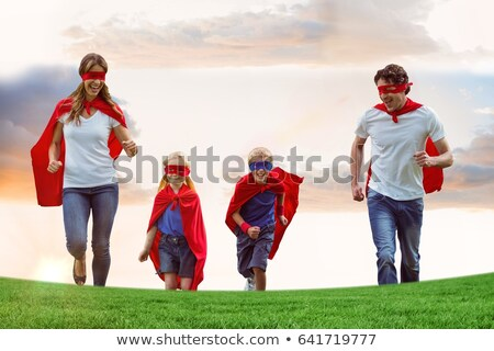 Composite image of father and son pretending to be superhero Stock photo © wavebreak_media