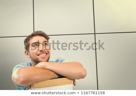 Estudantes estudar branco homem tabela Foto stock © wavebreak_media