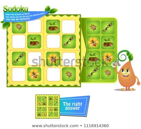jeu · insectes · enfants · photos · enfants · activité - photo stock © Olena
