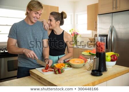 Stockfoto: Man Making Fresh Juice