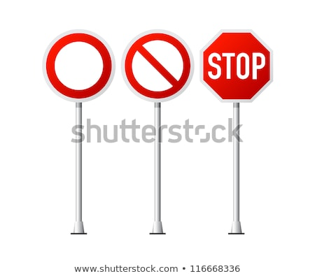 Sign stop on white background. Isolated 3D illustration Stock photo © ISerg