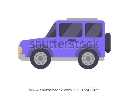 紫色 ビッグ クローズアップ ジープ タイプ ストックフォト © robuart
