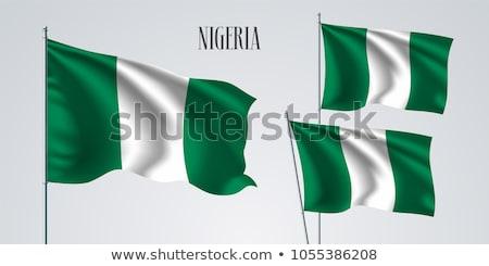 Zdjęcia stock: Nigeria · banderą · zestaw · odizolowany · biały