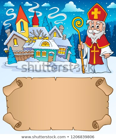 Small parchment and Saint Nicholas 1 Stock photo © clairev