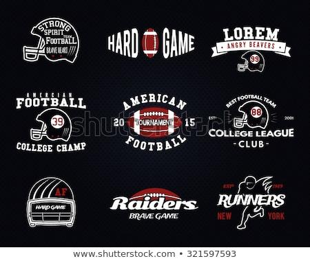 Americano futebol logotipo emblema EUA esportes Foto stock © JeksonGraphics