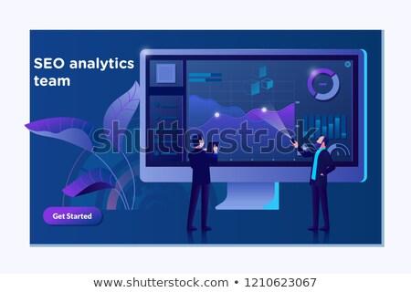 Negocios analítica banner moderna vector Foto stock © Decorwithme