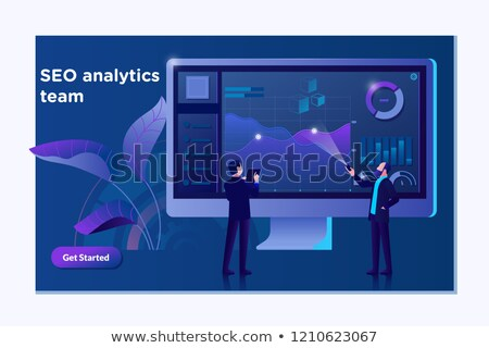 business analytics banner   modern vector isometric illustration stock photo © decorwithme