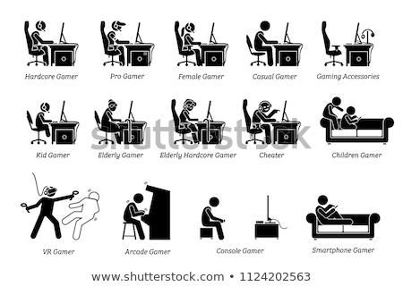 Diferente grupo sem fio branco música Foto stock © magraphics