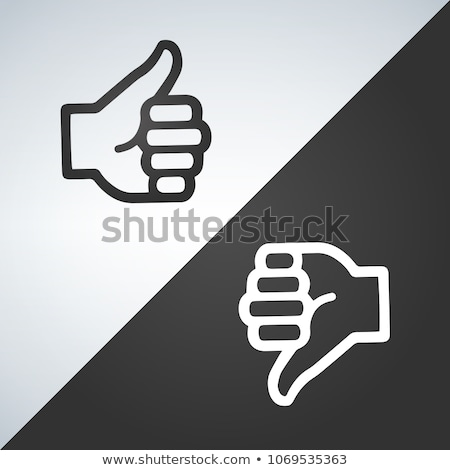 Like and dislike icon, flat design. vector illustraion isolated on modern background. Stock photo © kyryloff