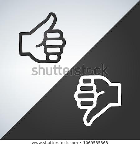 comme · détester · icône · design · vecteur · isolé - photo stock © kyryloff