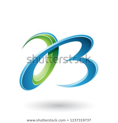 magenta · Blauw · brieven · vector · illustratie · geïsoleerd - stockfoto © cidepix