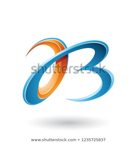 オレンジ · 青 · 手紙 · ロゴタイプ · アイコン · シンボル - ストックフォト © cidepix