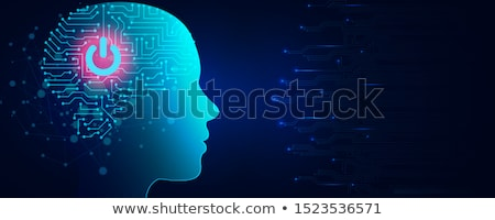The cognitive computing concept as modern technology Stock photo © Elnur