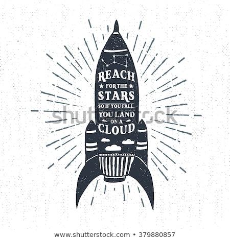 логотип эмблема Vintage рисованной черный путешествия Сток-фото © JeksonGraphics