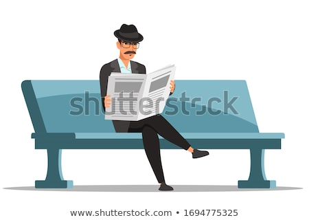 Character Reading Article Vector Illustration Stock photo © robuart