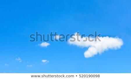 Uçak biçim bulut mavi gökyüzü bo uzay Stok fotoğraf © make