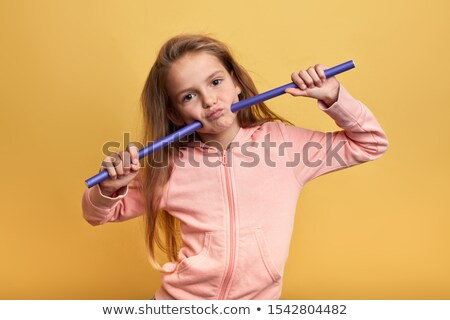 Cabelos cacheados little girl menina cabelo criança feminino Foto stock © boggy