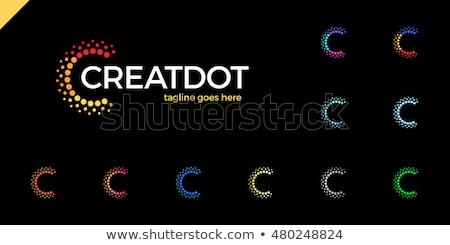 logotype c letter logo icon green vector Stock photo © blaskorizov