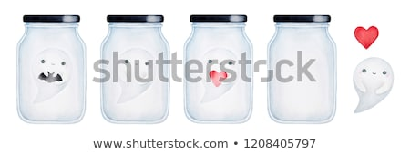 red hearts flying from the glass jar stock photo © artspace