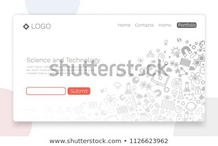 Engineering iconen patroon eps 10 computer Stockfoto © netkov1